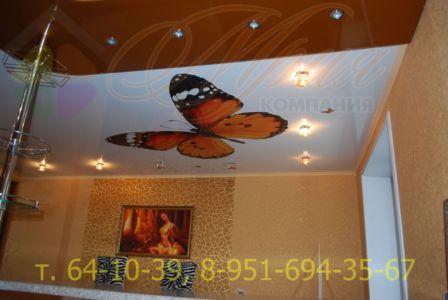 Натяжной потолок с фотопечатью на глянцевом полотне