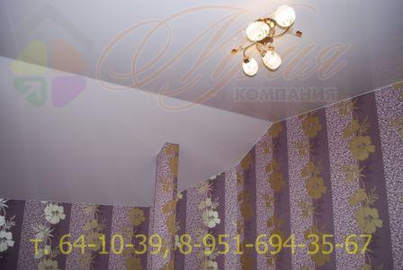 Натяжной потолок с обходом колонны