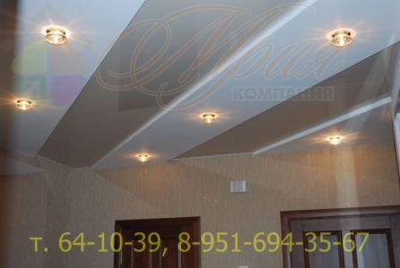 Натяжной потолок -вставка в гипсокартон
