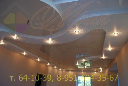 Натяжной потолок в нескольких уровнях