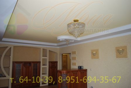 Тканевый натяжной потолок КЛИПСО