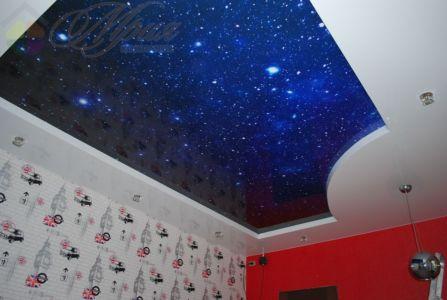Звездное небо.Глянцевый натяжной потолок