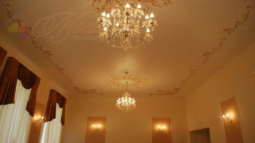 потолок на сатине